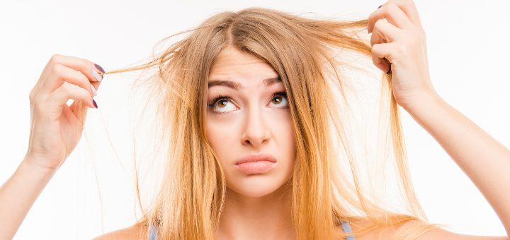 suché a zničené vlasy