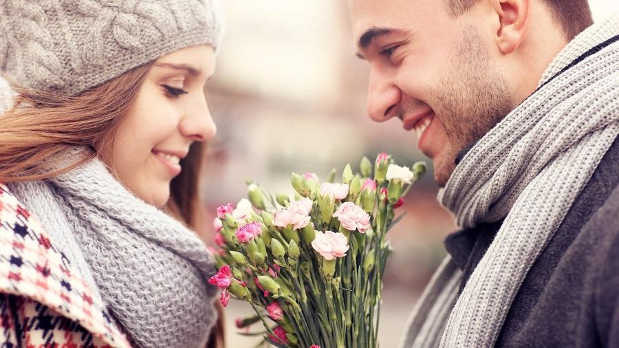Valentín a kvety