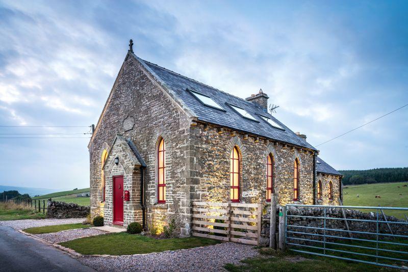 Kaplnka na kopci v Nord Pennines