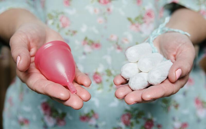 Menštruácia tampóny kalíšok